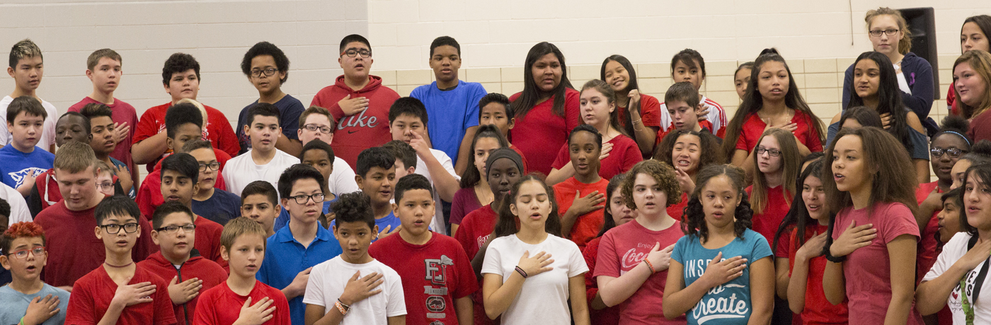 Weeks Middle School Students Performing