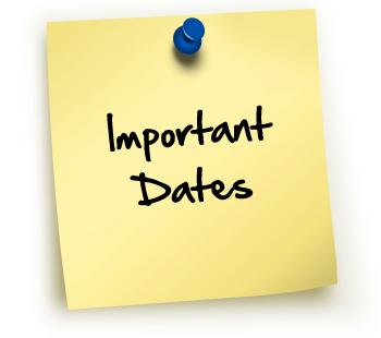 Important Dates 1